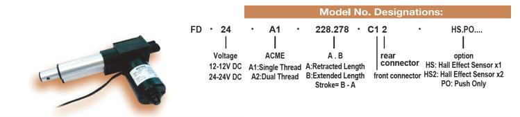 FD Series linear actuator