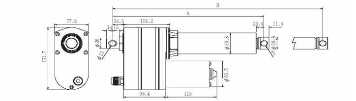VID8-B Ballscrew Actuator With Limit Switch