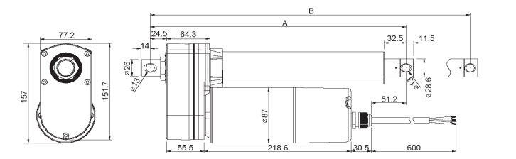 Standard VIA5 Acme Screw Linear Actuators