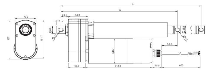 Standard VIA5 Ball Screw Actuator Techical Data