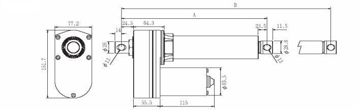 Standard VID8-B Ballscrew Actuator
