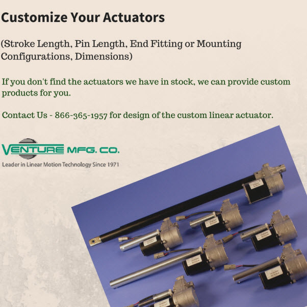 customize your linear actuator