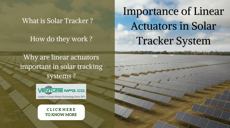 Linear Actuators in solar tracker