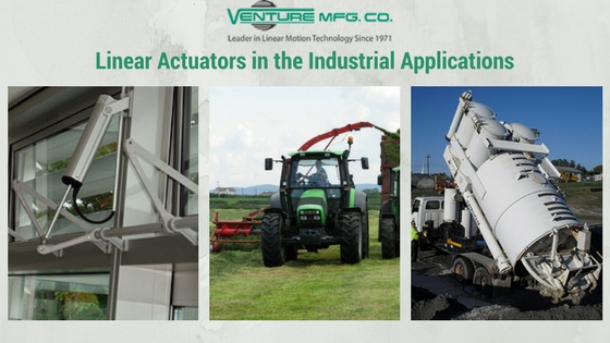 Linear actuators for industrial applications