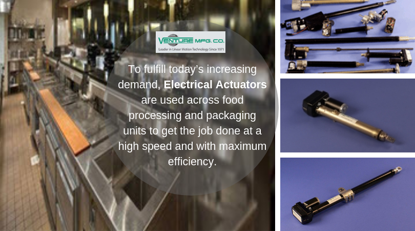 Actuators for food industry